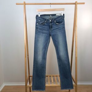 Rag & Bone • Straight Leg Jeans Elgin Raw Hem 29